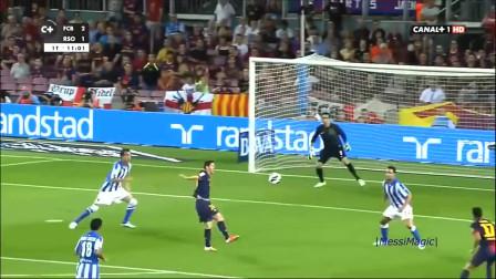 展现梅西逆天球感的10个进球, 足球为什么这么听他的话
