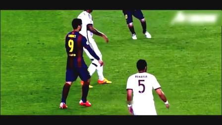梅西把足球拉高一个档次的骚操作, 对手的表情生无可恋