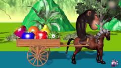 动物故事:猴子帮助大猩猩在河上运输水果 !儿