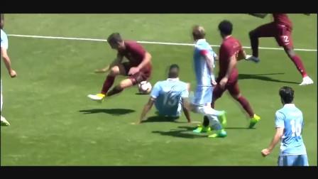 足球假摔失败搞笑合集, 有C罗也有梅西, 梅球王演技略显生疏