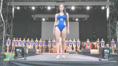 洛杉矶国际时装周世界小姐大赛泳装秀,明明能靠颜值吃饭,非要走T台