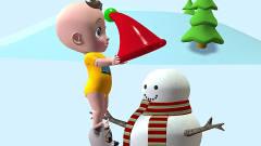 儿童卡通片:小猴子与小萌娃滑雪橇