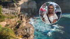 英国21岁美女模特翻栅栏悬崖边自拍 兴奋过头坠