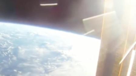 地球上方拍摄到的珍贵UFO画面,看完我是信了