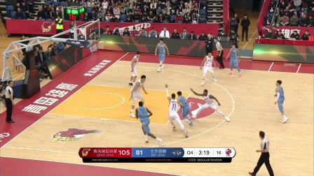 亚当斯vs北京首钢个人集锦:31+11+9青岛取胜功臣