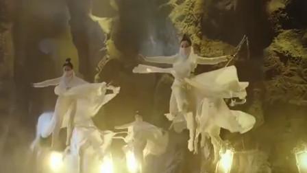 一群美女从天而降,带着面纱也盖不住绝世容颜