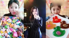 小美女试吃:彩色巧克力、果冻鸭, 吃出幸福的