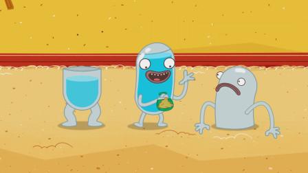 脑洞幽默动画,玩沙玩水别玩冰雹,砸在身上让