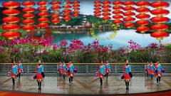 骄阳舞韵广场姐妹新春热舞 红火火的中国 甜美美