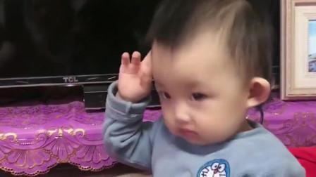 萌娃:熊孩子跟着音乐跳舞,节奏感真强