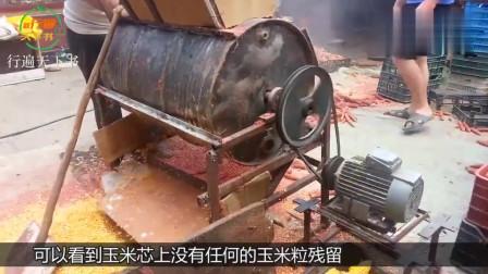 牛人大爷用汽油桶发明剥玉米机,一天能剥6亩地玉米,150元造一台