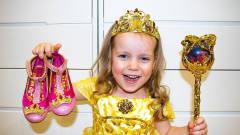 小美女魔法棒一挥,秒变公主好奇妙