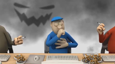 黑色幽默动画,二手烟的危害到底有多大?别再