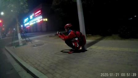 夜骑坡头区街拍