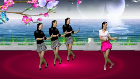 广场舞《爱不停息》网络热门情歌 舞蹈简单优美