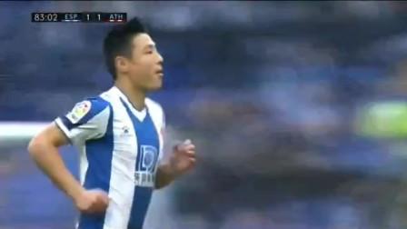 西甲联赛:西班牙人1-1毕尔巴鄂全场集锦 武磊替补头球差点绝杀 德托马斯破门扳平