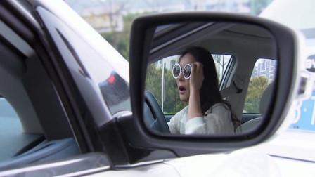 美女追尾出租车,被出租车司机吓到了,竟开车