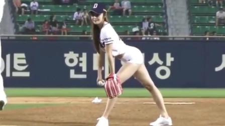 韩国身材最好的开球美女,这球职业选手也打不