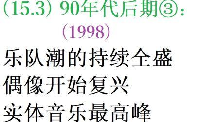 【日本流行音乐史】(15.3) 90年代后期③:('98)乐队潮的持续全盛、偶像开始复兴和实体音乐最高峰