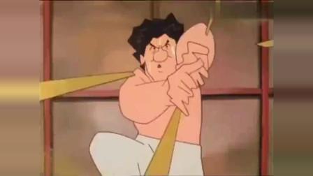 成龙,洪金宝,元彪被日本人拍成动画片各种恶