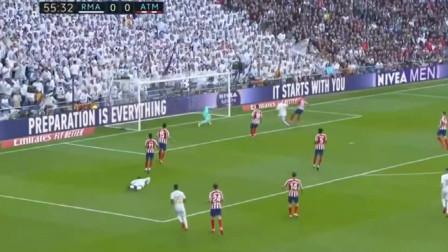 西甲:马德里德比 皇马vs马竞1:0 犀利的本泽马打入制胜球