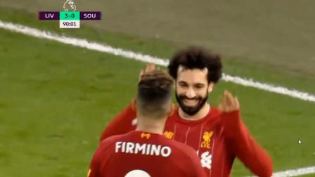 英超:利物浦已势不可挡 萨拉赫梅开二度 利物浦4:0南安普顿