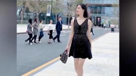 街拍,走路霸气的美女,不去演古装女侠可惜了