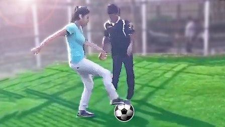 美女练习足球失败合集:差点笑出猪叫,你们是来搞笑的吧!