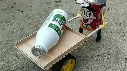 牛人创意无极限,易拉罐被他制作成了玩具,真是有才啊!