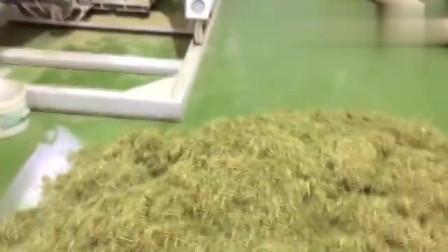 牛人将草加工成颗粒饲料喂羊,这样的机器很实用
