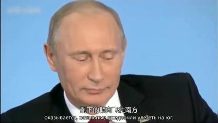 普京:普京机智幽默的回答了记者的提问,现场