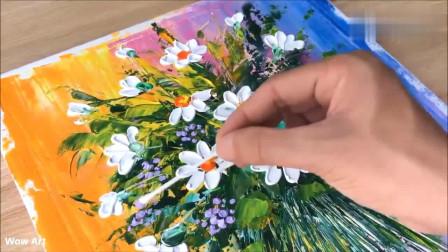 牛人制作:牛人教你如何画一朵花,画成这样,真的太惊艳了!