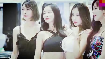 四位韩国美女车模齐聚一堂,你喜欢哪一个