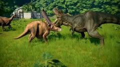 侏罗纪公园 霸王龙对战三角龙 恐龙动漫