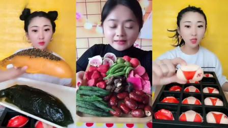 美女姐姐自制百香果鲤鱼,果蔬脆,美味零食我