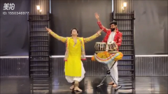 印度舞蹈分享*舞者与鼓手的默契*#印度歌舞##印度