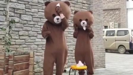 2只网红熊的日常糗事,说好的相亲相爱,友谊的