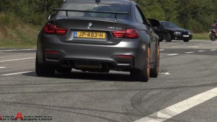 【街拍】各种跑车加速!排气声浪!M5 V10 C63S A