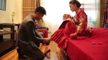 搞笑婚礼:广东一亿万富翁嫁独生女儿,1米7的大美女,猜猜新郎啥身份