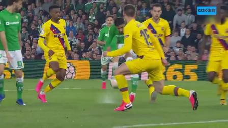 梅西助攻帽子戏法,西甲第23轮,皇家贝蒂斯2-3巴塞罗那