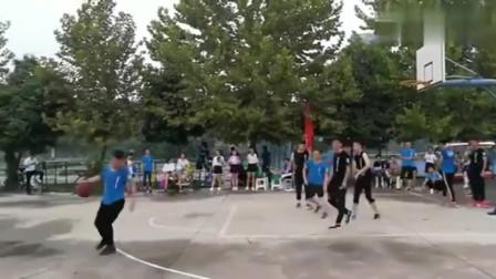 我们小区举行篮球赛,这些高手进一球怎么就这