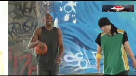 科比生前唯一跟周杰伦打篮球的视频!以后再也