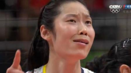 朱婷最经典的表情!4次大力扣球终成功后,朱婷