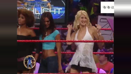 WWE杰里科前女友大聚会,清一色的模特身材,观