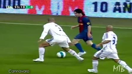 经典时刻:梅西对阵恒大主帅卡纳瓦罗经典画面