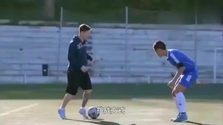 中国青年足球运动员和梅西过招,真正体验了一把什么叫世界水平!