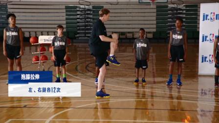 【Jr. N*A居家篮球课】:【Jr. N*A居家篮球课】第二课   P2动态热身 - 抱膝拉伸
