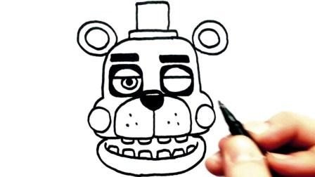 速度画画FNaF6所有人物,奥维尔安全木偶,左撇子