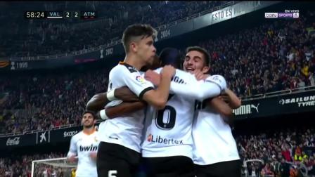 西甲:马竞2-2遭瓦伦西亚两度追平 托马斯贴地斩略伦特破门