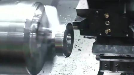 牛人发明:加工一个飞轮,最后那几刀速度也太快了吧